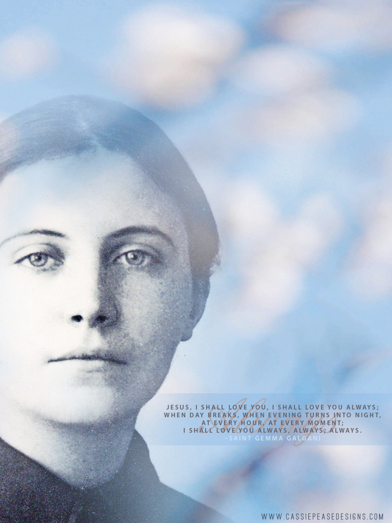 St. Gemma Galgani (blue) Mobile Wallpaper
