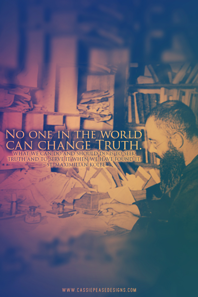 "St. Maximilian Kolbe ""Truth"" Mobile Wallpaper"