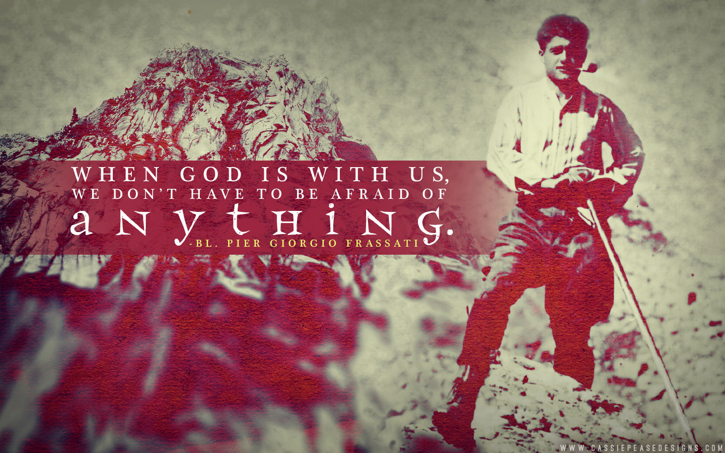 Bl. Pier Giorgio Frassati (red) Desktop Wallpaper