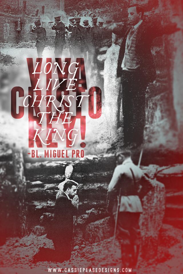 "Bl. Miguel Pro ""Viva Cristo Rey"" Mobile Wallpaper"