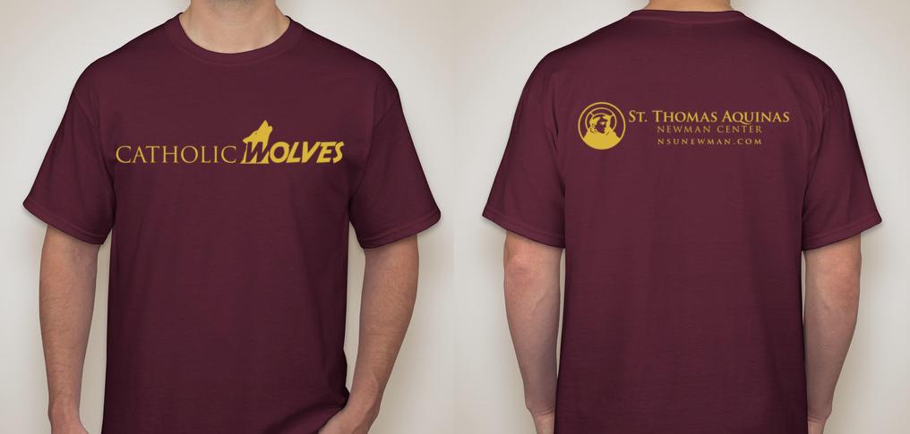 Catholic Wolves Shirt Design