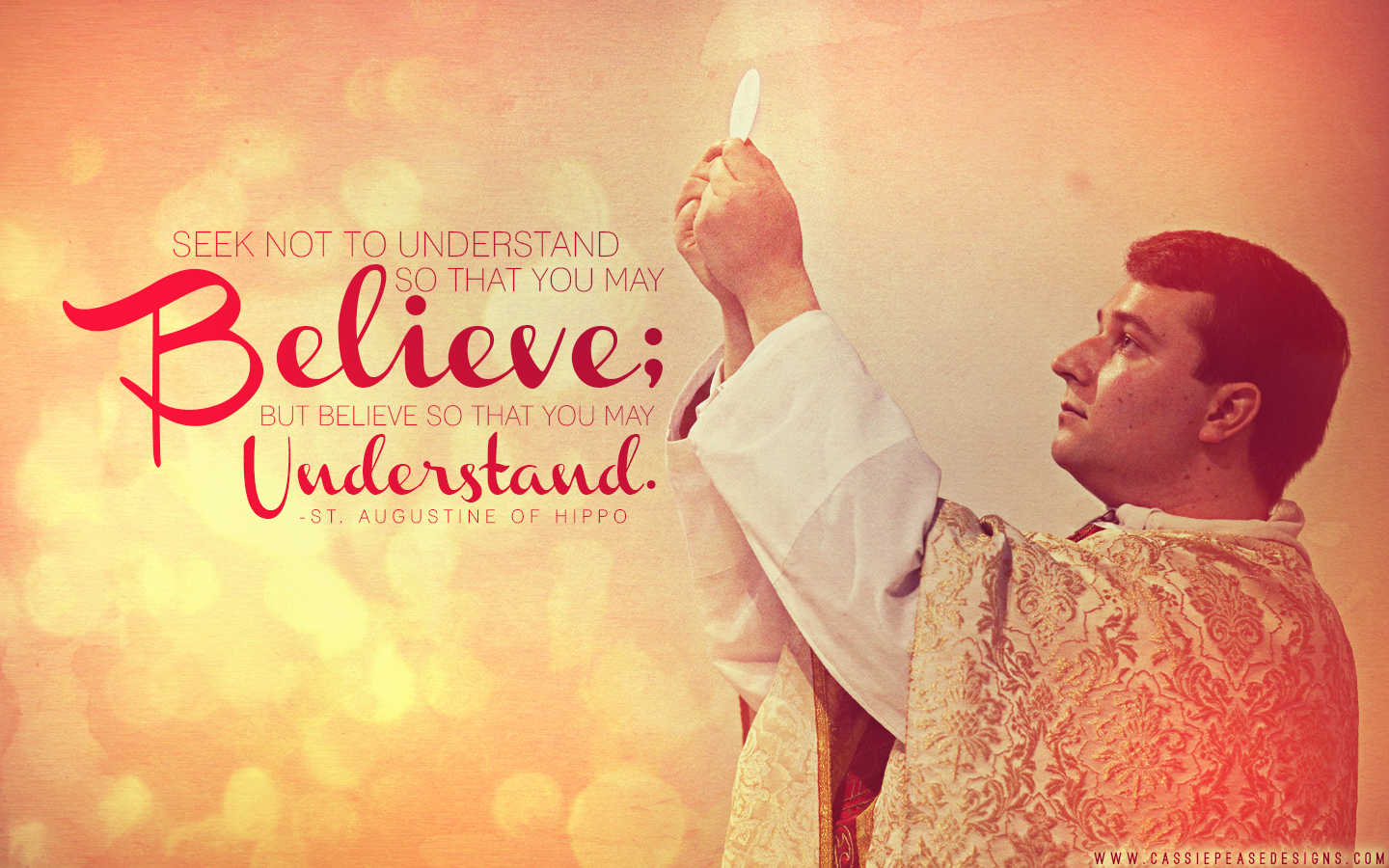 "St. Augustine ""Believe to Understand"" Desktop Wallpaper"