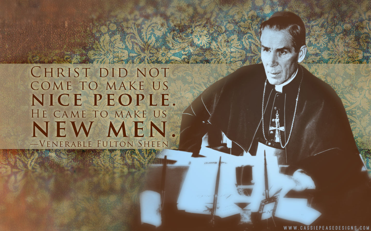 Ven. Fulton Sheen Desktop Wallpaper
