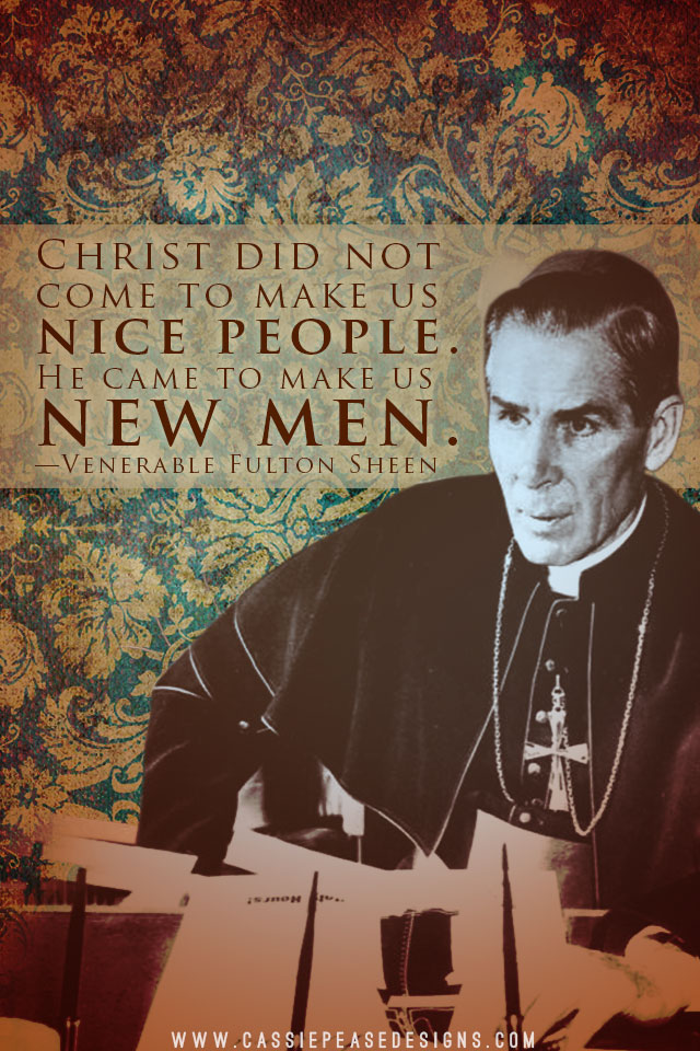 Ven. Fulton Sheen Mobile Wallpaper