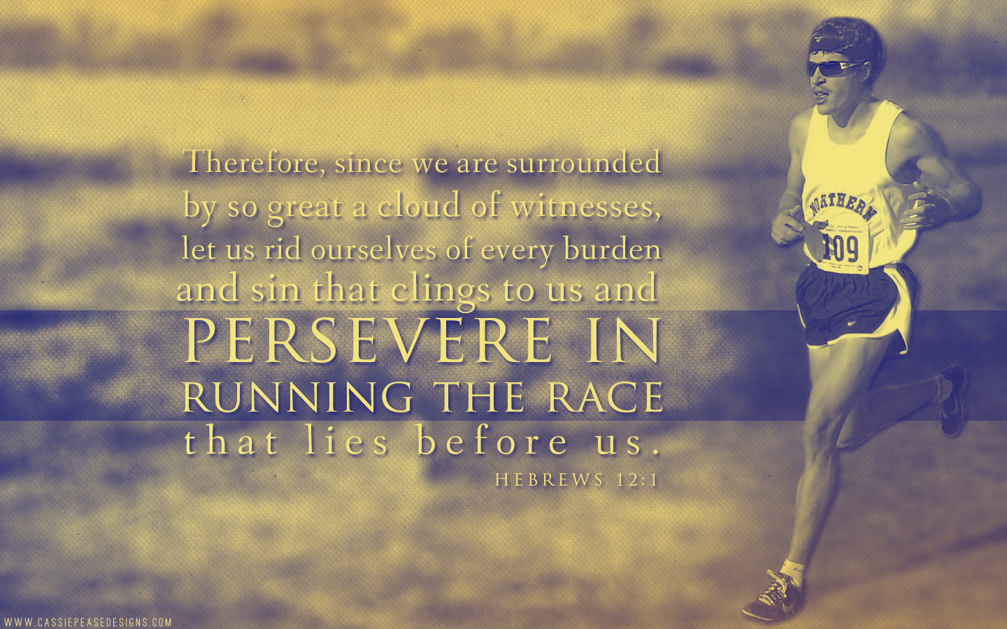 Hebrews 12:1 Desktop Wallpaper