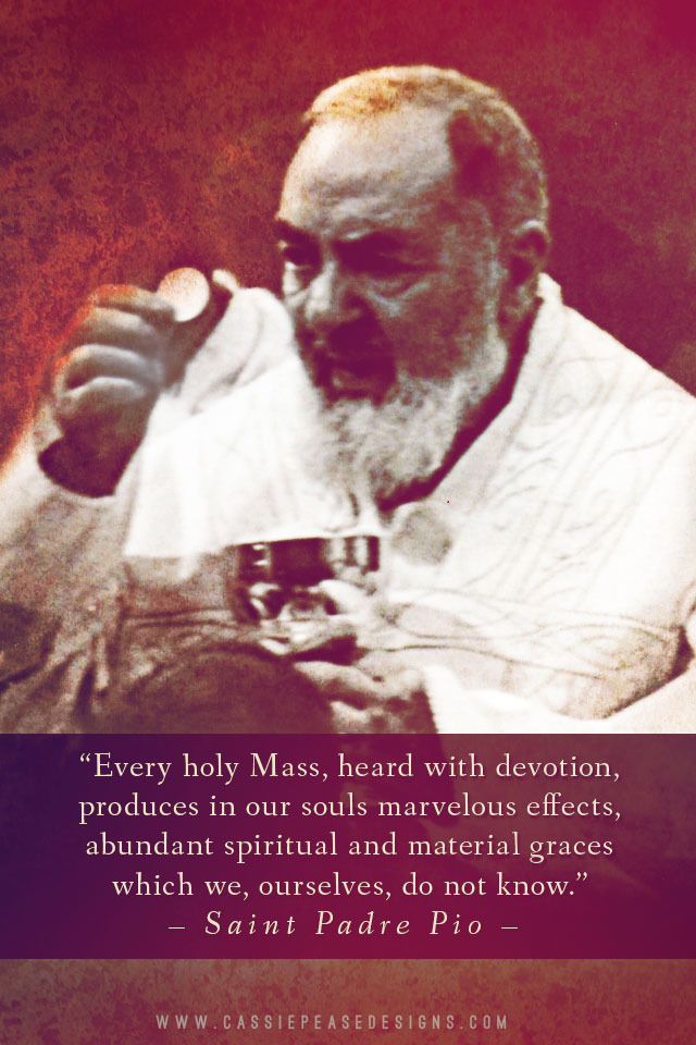 "St. Padre Pio ""Mass"" Mobile Wallpaper"