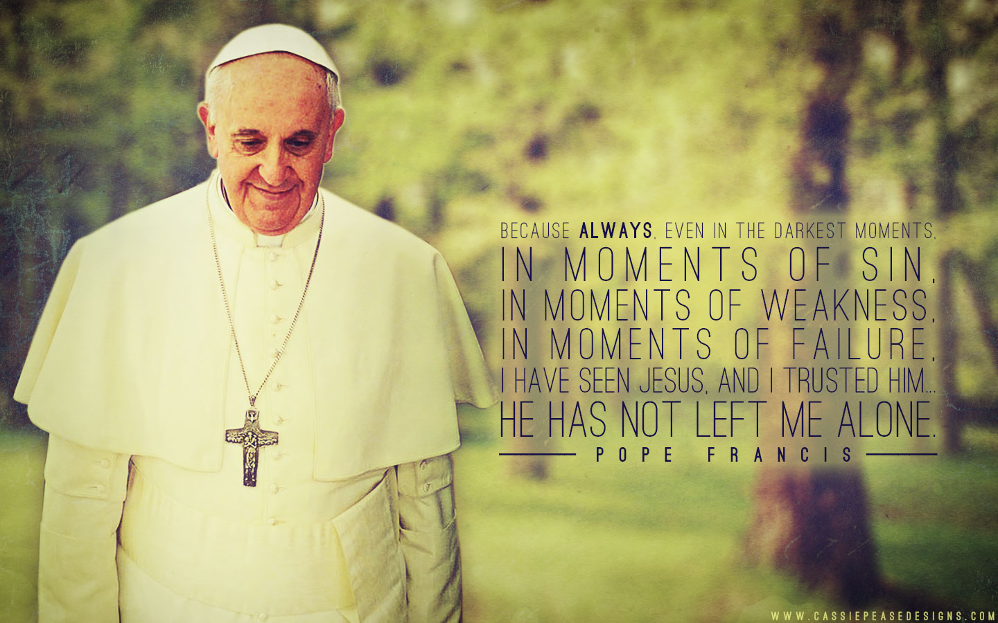 Pope Francis (green) Desktop Wallpaper