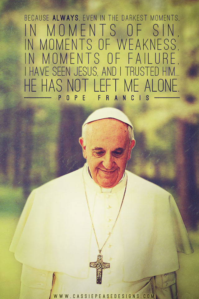 Pope Francis (green) Mobile Wallpaper