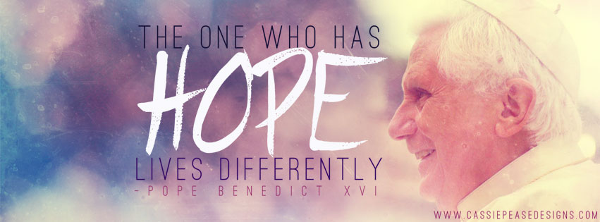 "Pope Benedict XVI ""HOPE"" Coverphoto"