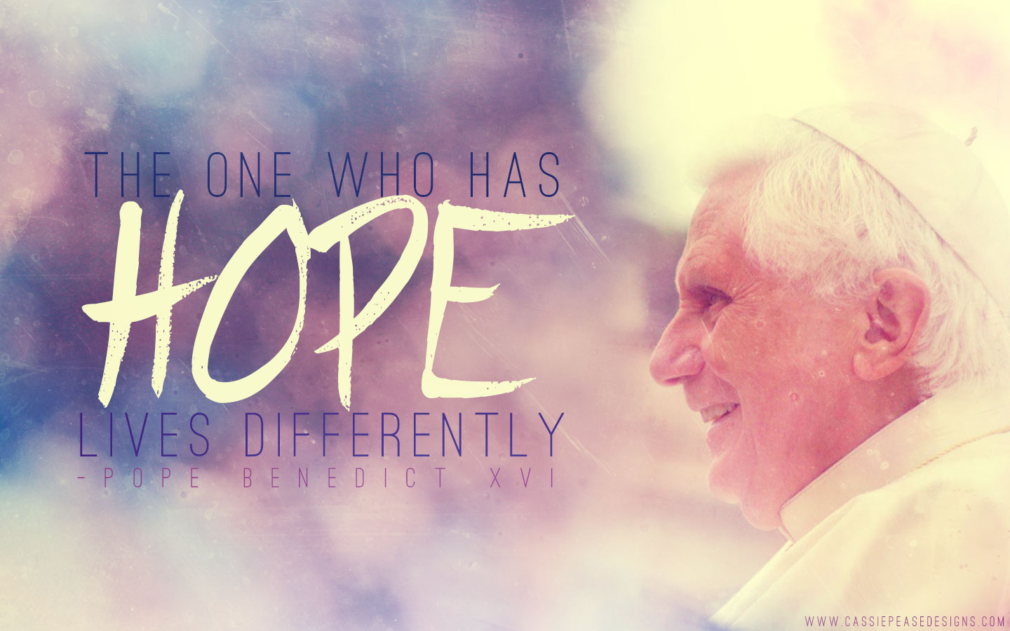 "Pope Benedict XVI ""HOPE"" Desktop Wallpaper"