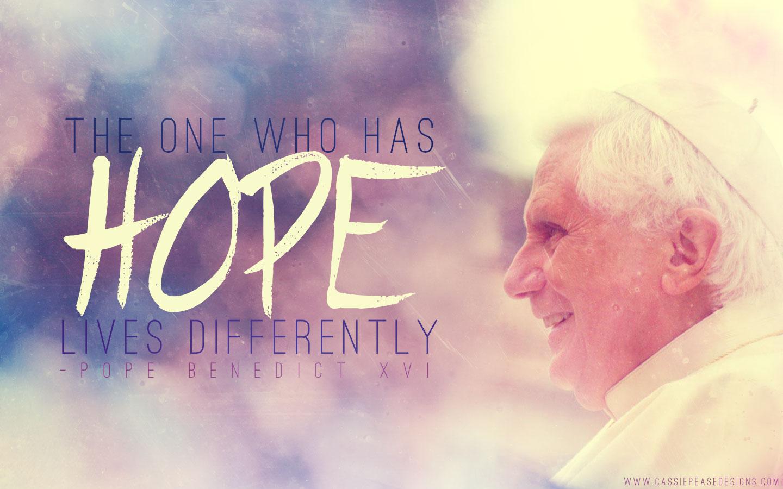 "Pope Benedict XVI ""HOPE"" Desktop Wallpaper"