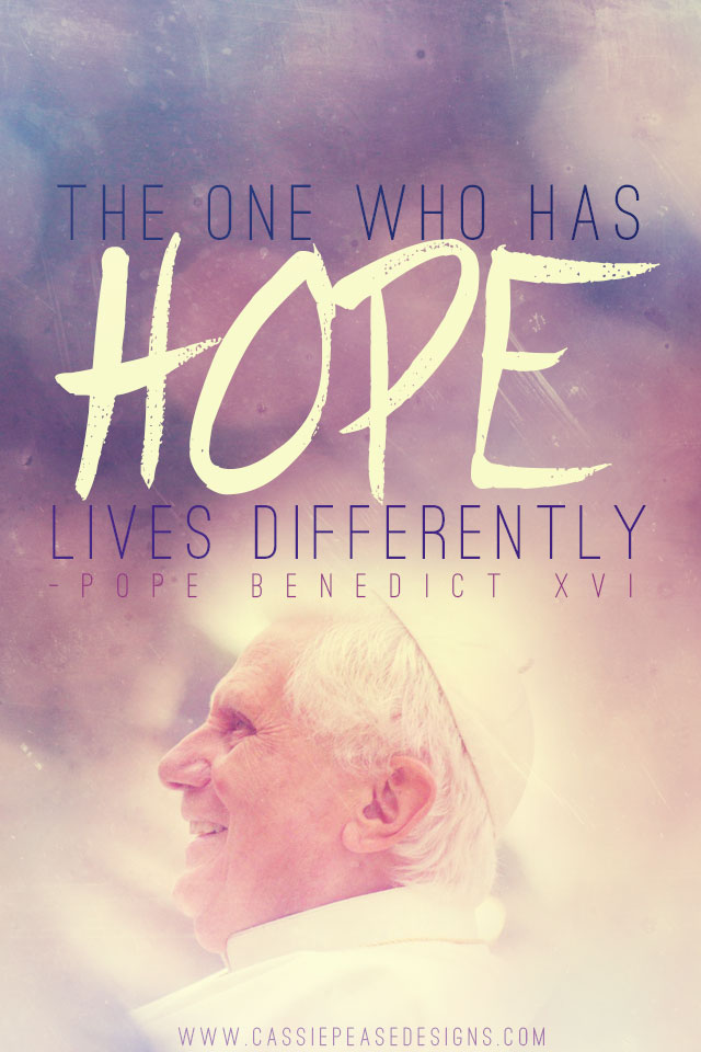 "Pope Benedict XVI ""HOPE"" Mobile Wallpaper"