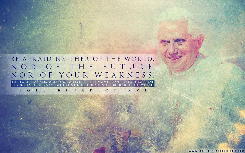"""Pope Benedict XVI """"Weakness"""" Desktop Wallpaper"""