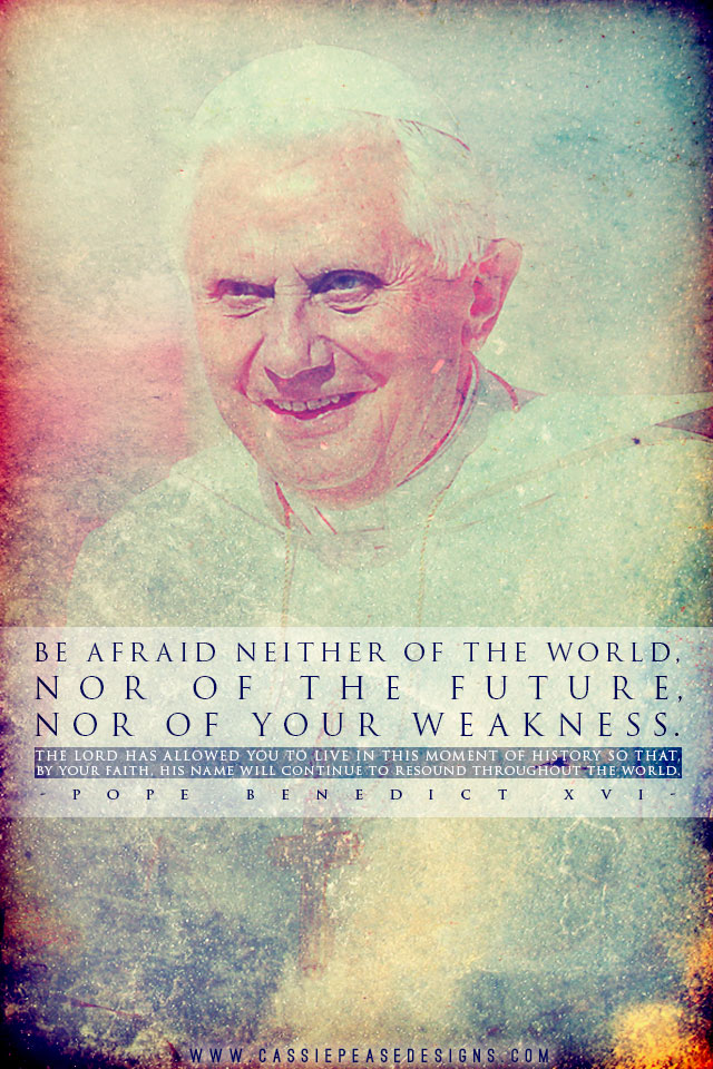 "Pope Benedict XVI ""Weakness"" Mobile Wallpaper"
