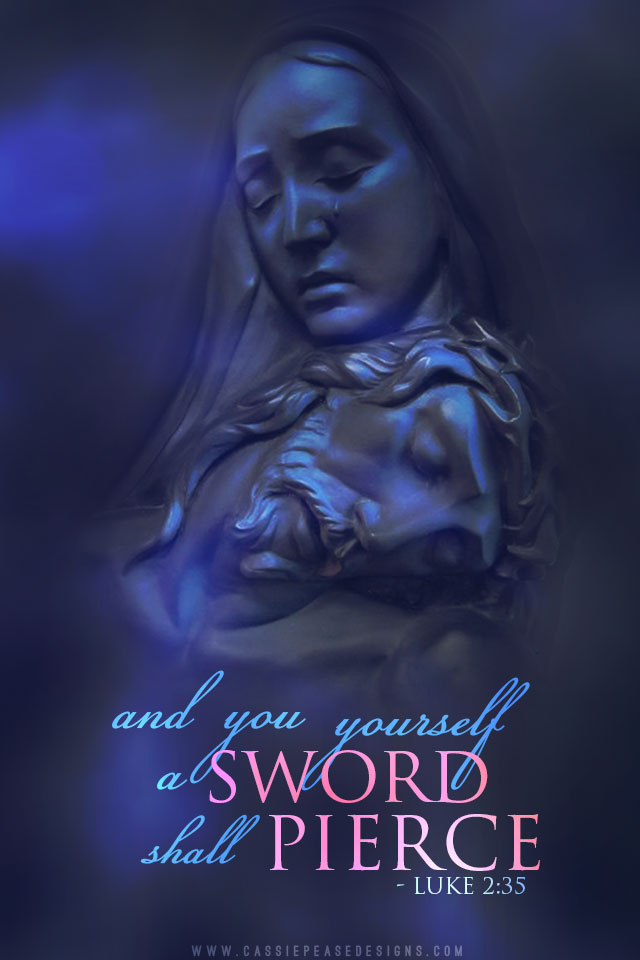 Our Lady of Sorrows Mobile Wallpaper