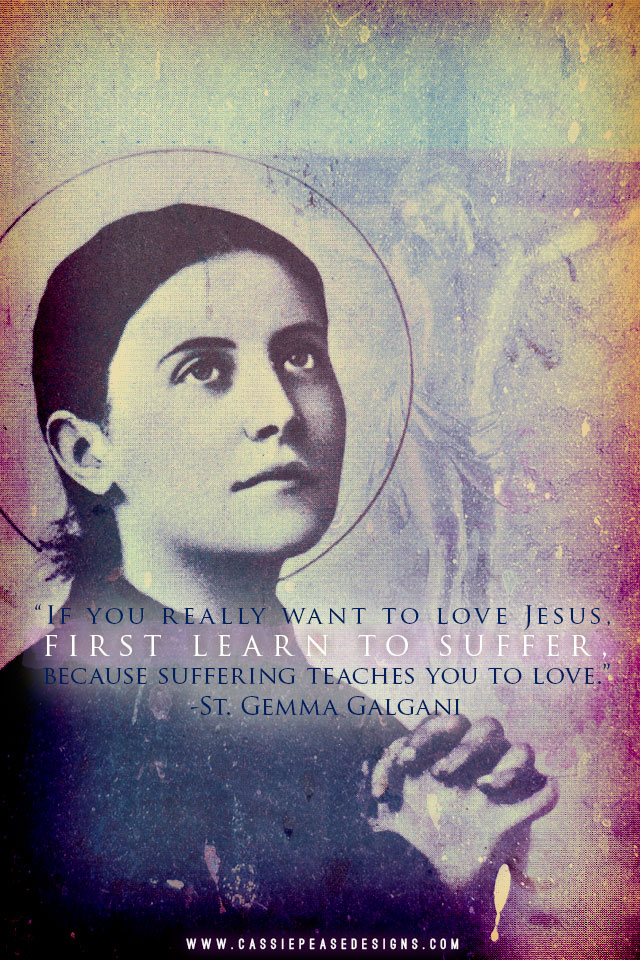 "St. Gemma Galgani ""Suffering"" Mobile Wallpaper"