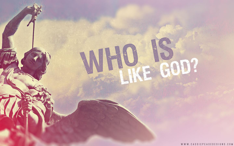 """St. Michael """"Who Is Like God"""" Desktop Wallpaper"""