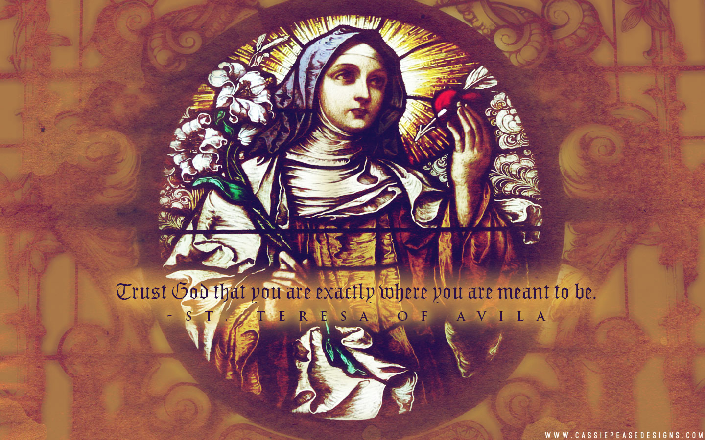 St. Teresa of Avila Desktop Wallpaper