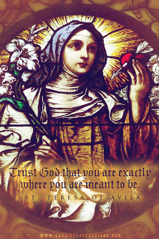 St. Teresa of Avila Mobile Wallpaper