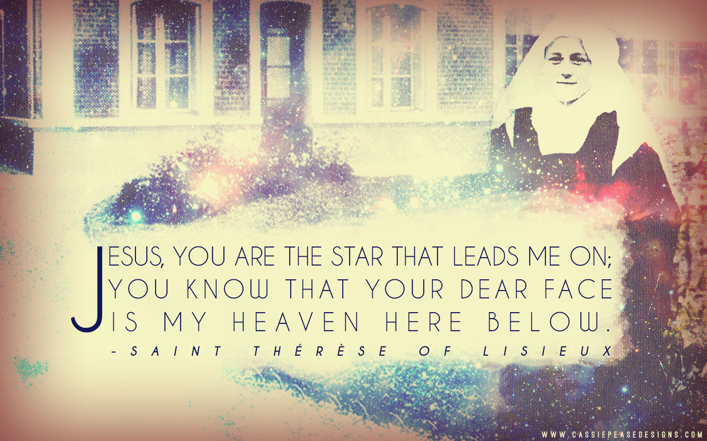 "St. Therese ""Star"" Desktop Wallpaper"