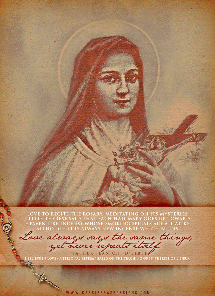 "St. Therese ""Rosary"" Mobile Wallpaper"