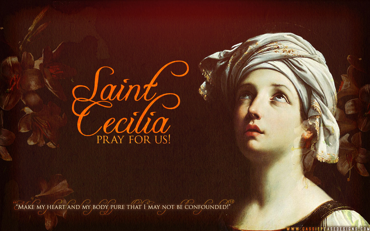 St. Cecilia Desktop Wallpaper