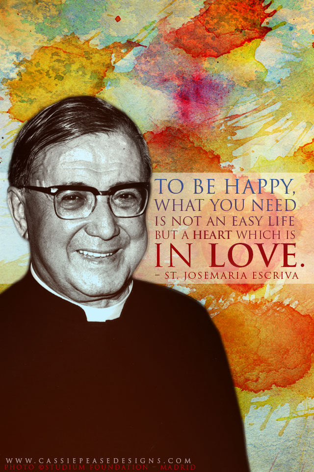 "St. Josémaria Escriva ""Heart In Love"" Mobile Wallpaper"