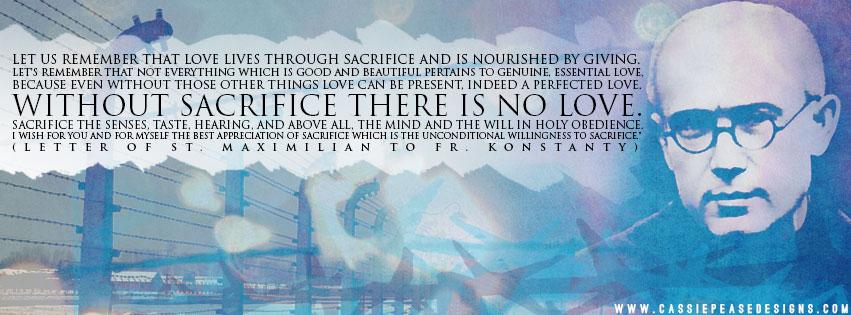 "St. Maximilian Kolbe ""Sacrifice"" Coverphoto"