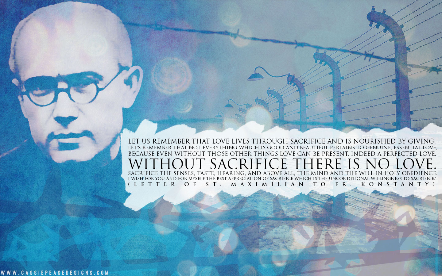 "St. Maximilian Kolbe ""Sacrifice"" Desktop Wallpaper"