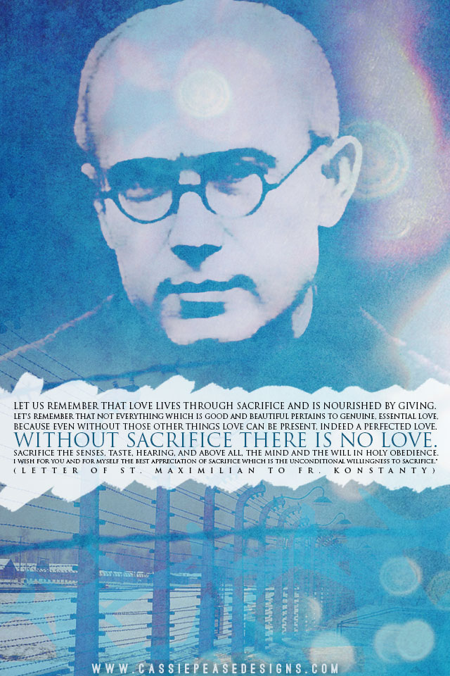 "St. Maximilian Kolbe ""Sacrifice"" Mobile Wallpaper"