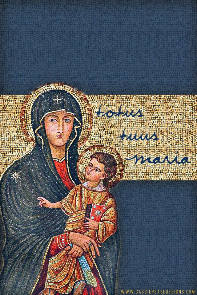 Totus Tuus Maria Mobile Wallpaper