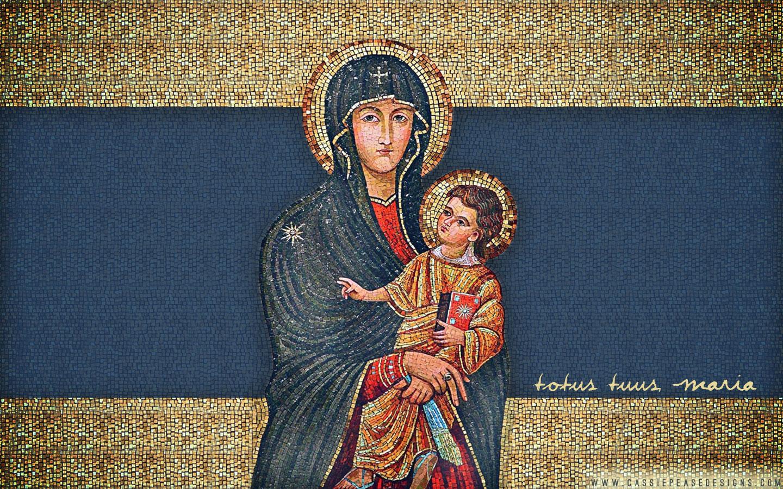 Totus Tuus Maria Desktop Wallpaper