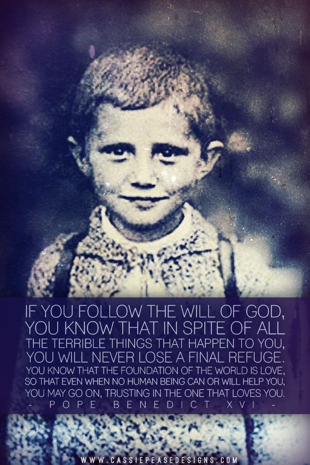Little Pope Benedict XVI Mobile Wallpaper