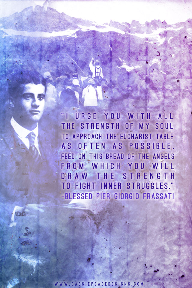 Bl. Pier Giorgio Frassati (blue) Mobile Wallpaper