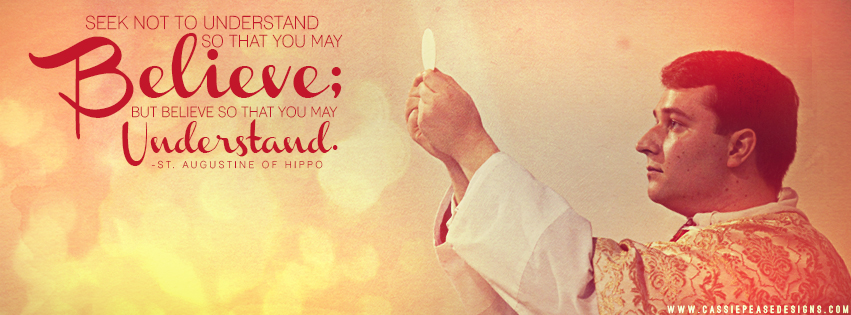 "St. Augustine ""Believe to Understand"" Coverphoto"