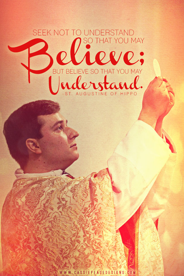 "St. Augustine ""Believe to Understand"" Mobile Wallpaper"