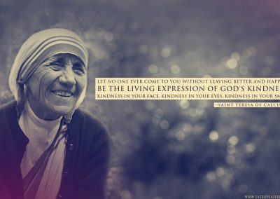 "Mother Teresa ""Expression of God's Kindness"" Desktop Wallpaper"