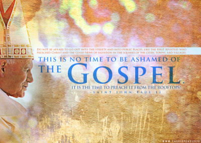 "JPII ""The Gospel"" Desktop Wallpaper"
