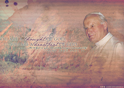 """JPII """"Heartbeat of God"""" Desktop Wallpaper"""