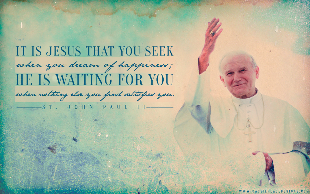 "JPII ""Seeking Jesus"" Desktop Wallpaper"