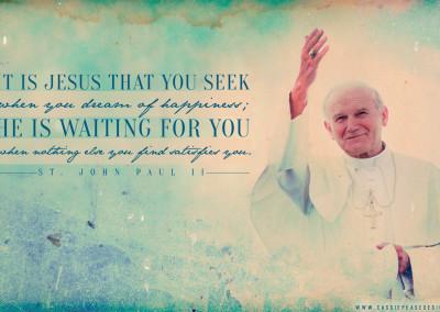 """JPII """"Seeking Jesus"""" Desktop Wallpaper"""