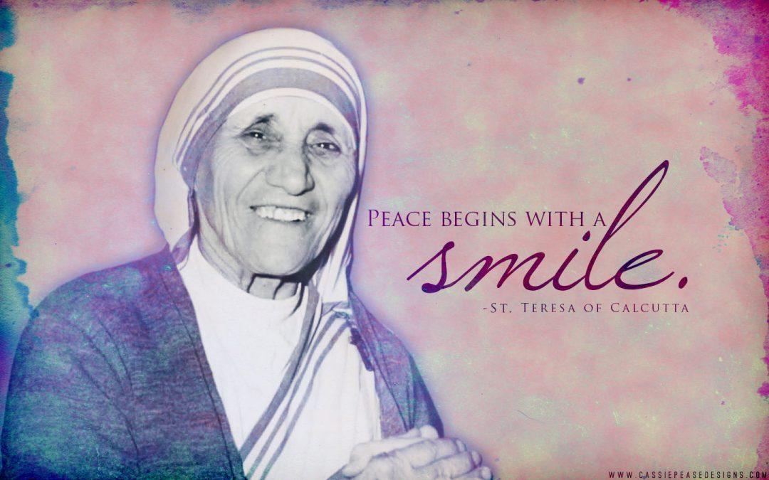 "Mother Teresa ""Smile"" Desktop Wallpaper"