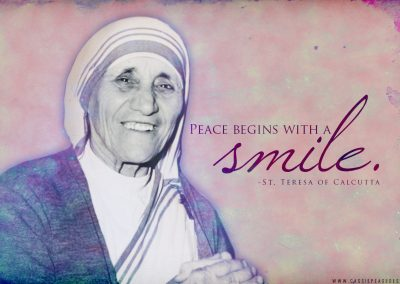 "Mother Teresa ""Smile"" Desktop Wallpaper"