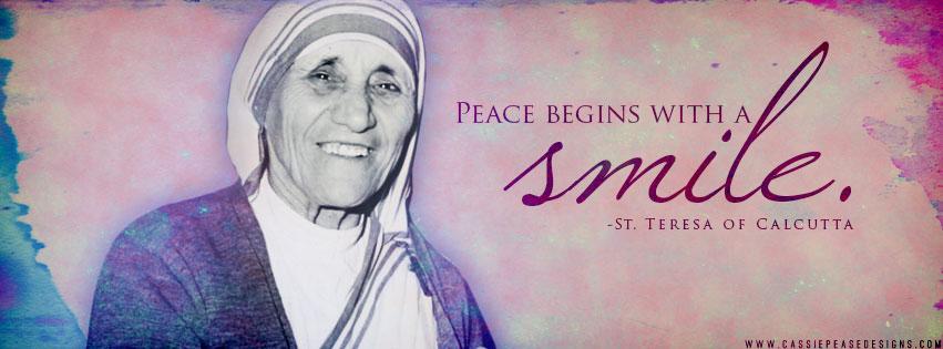 "Mother Teresa ""Smile"" Coverphoto"