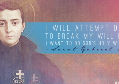 St. Gabriel Possenti Coverphoto