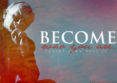 "JPII ""Become Who You Are"" Desktop Wallpaper"