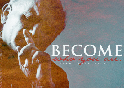 "JPII ""Become Who You Are"" Mobile Wallpaper"