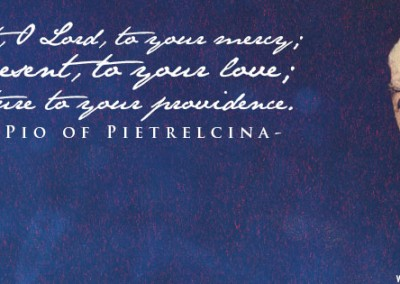 Padre Pio (blue) Coverphoto