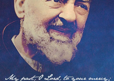 Padre Pio (blue) Mobile Wallpaper