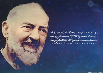 Padre Pio (blue) Desktop Wallpaper
